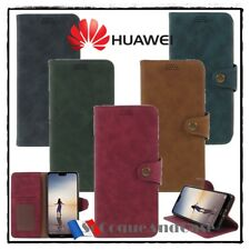 Etui coque housse Retro Cuir PU Leather stand wallet case cover Huawei P20