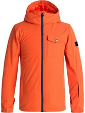 Quiksilver Mandarin Red Mission Solid Kids Snowboarding Jacket