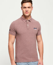 Superdry Classic S/S Pique Polo in Haze Pink