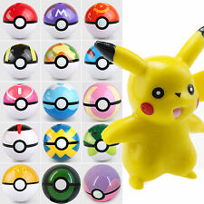 Pokemon Throw Pop-up Poke Ball & Pocket Monster Pikachu Figure Kids Party Toys