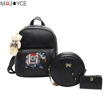 New Design Elephant Embroidery Women Backpack PU Leather Backpack for Girls