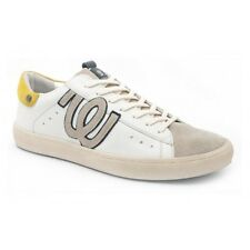 Wrangler Shoes Mod.Clever Sneaker Uomo, Multicolore (Whaite-Yellow)