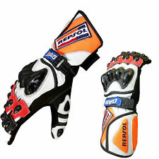 Honda Repsol Leather Racing Motorbike Gloves Racing suits Motorcycle Gloves GP