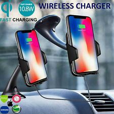 Qi Wireless Car Charger Holder Cradle Mount Stand Fast Charging For iPhone 8 X