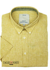 MAXFORT SHIRT MAN SHORT SLEEVE PLUS SIZE  1262 YELLOW