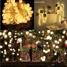 Holiday Bubble Ball/Waterdrop String Lights Lamp 100 LED Home decor Xmas 10M