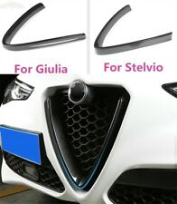 Cover in ABS Carbon Look Front Grill Grille Trim Alfa Romeo Giulia Stelvio 2017