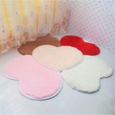 Bathromm Door Heart-Shaped Carpet Floor Mat Plush Cushion Pad Shaggy Rug 6B8D