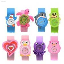Cartoon Children Slap Snap On Silicone Quartz Wrist Watch Christmas Gift AF93