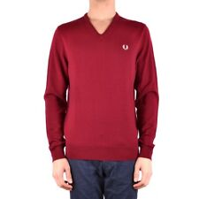 bx33720 Fred Perry maglione bordeaux uomo man's burgundy sweater