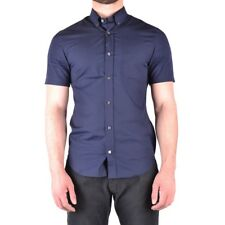 bx32242 Burberry camicia blu scuro uomo dark blue man's shirt