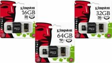 Micro SD SDHC SDXC Kingston  16GB 32GB 64GB Memory Card CL10 UHS-1 USB Classe10