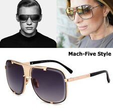 Limited Edition Fashion Mach Five Style Aviation Sunglasses Brand Design Metal