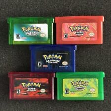 5PCS Fan Advance Gameboy Game Card For Pokemon NDSL/GBC/GBM/GBA/SP New Gift