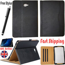 "Genuine Leather Stand Folio Case Cover For Samsung Galaxy Tab A6 10.1"" T580-T585"