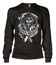 SONS OF ANARCHY SOA NEUF Taille S L T-shirt Noir manches longues motard samcro