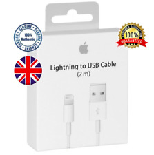 ✅ 2m Genuine Apple iPhone Lightning USB charging cable 5 6 7 Lead long box ✅
