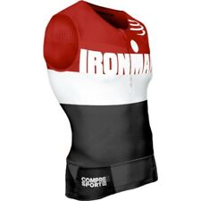 Warehouse Deal Ironman Compressport Triathlon TR3 Aero Tank Top Stripes Red