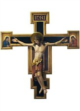 Crucifix wood carving for wall (mod. 852) - made in Italy