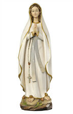 Our Lady of Lourdes statue wood carving modern style