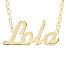 Lola Nameplate Necklace Gold / Rose Gold Plated 925 Sterling Silver Pendant