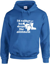 I'D Rather Be Down The Parcela, Parcela Sudadera con Capucha Estampado Inspirado