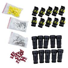 10 KIT 2 pin conector hembra terminales cable eléctrico impermeable OE