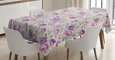 Botanical Garden Tablecloth by Ambesonne 3 Sizes Rectangular Table Cover Decor