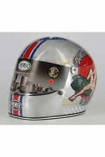 Casco Integrale Retro' Premier Trophy Pin Up Old Style Sil