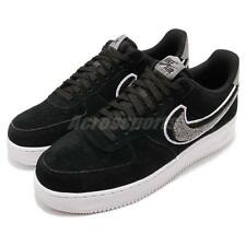 Nike Air Force 1 07 LV8 AF1 Chenille Swoosh Black Men Casual Shoes 823511-014