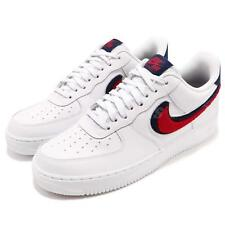 Nike Air Force 1 07 LV8 AF1 Chenille Swoosh White Red Blue Men Shoes 823511-106