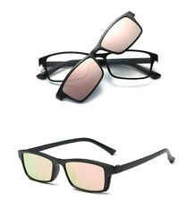 Magnetic Polarized Clip-on Sunglasses Driving Rx-able TR Eyeglass Frames Fashion