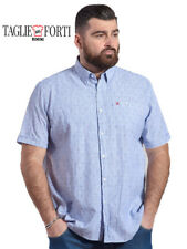 MAXFORT. SHIRT MEN'S PLUS SIZE ANDRIA BLUE