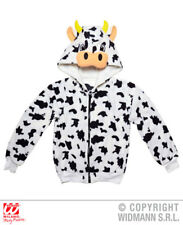 Mens Cow Costume Dairy Farm Rodeo Cattle Jersey Animal Steak Fancy Dress Outfit