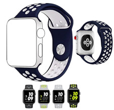 cinturino in silicone apple watch serie 1/2/3 stile nike sport 42mm