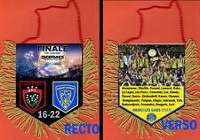 FANION PENNANT FINALE RUGBY TOP 14 2017 CLERMONT VS TOULON