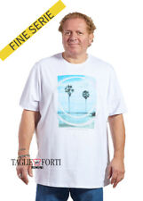 MAXFORT. T-SHIRT MEN'S PLUS SIZE 27753 WHITE