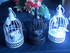 Vintage Metal Bird Cage Candle Holder Lantern Christmas /Wedding Home Decor 3