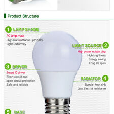 E27 3W/5W/10W RGB LED Bulb Dimmable 16 Color Changing Light Lamp Remote Control
