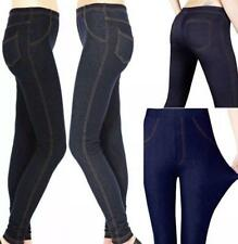 New Ladies Women's Jeggings Stretchy Leggings Fit Skinny Casual Plus Size Jeans