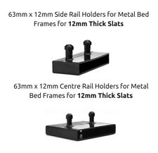 63mm x 12mm Bed Slat Holders Side Rails / Centre Rails for Metal Beds 2 Prongs