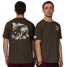 NGT Carpers Olive Green Carp Coarse Fishing T-Shirt with Carp Logo Front & Back