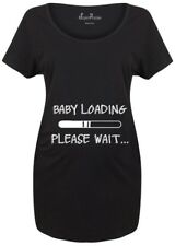 Maternity T shirts Pregnancy Shirts Top Tunic Outfit Baby Loading Slogan
