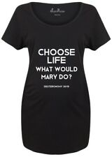 Maternity T shirts Pregnancy Shirts Choose Life What Would Mary Do? Christian