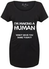 Maternity T shirts Pregnancy Shirts Top Tunic Outfit Making Human Funny Joke