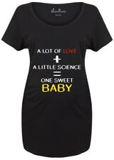 Maternity T shirts Pregnancy Shirts Top Tunic Outfit One Sweet Baby Science