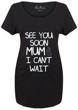 Maternity T shirts Pregnancy Shirts Top Tunic Outfit See You Mum Slogan