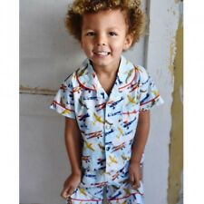 Boys Summer Short Plane Pyjamas, 100% Cotton  Powell Craft Age 2-3, 4-5, 6-7