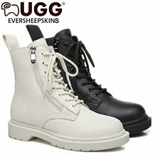 UGG ever Boots Ladies Luna 11797 Sheepskin Fashion Leather Lining Front Lace Up