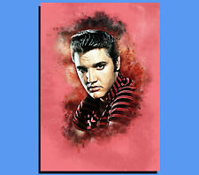 Box Canvas: Elvis Presley - Grunge Art - Various Sizes - Ready To Hang